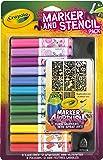 Crayola Kit de feutres & pochoirs rose - marqueurs à peinture (Multi, Multicolore, Ampoule, Enfant, Fille)