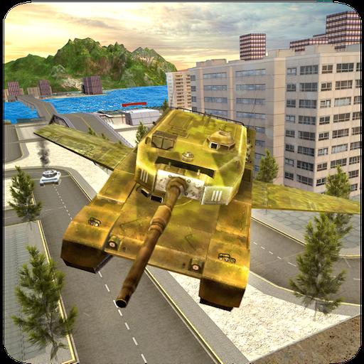 World War US Army Letzter Tag Schlachtfeld Flying Simulator 3D: Panzer Held Laser Krieg Trouble Stars Überleben Abenteuer Spiele Gratis für Kinder 2018