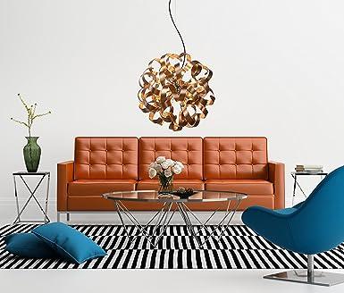 NOVA Designer Wohnzimmerlampe Halogen Rotgold Hhenverstellbar Dimmbar G9 Fassung