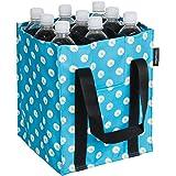Amazon Basics - Flaschentasche, 9 Fächer, 1,5 l Flaschen, Blau