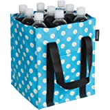 Amazon Basics Bottle bag - 9 compartments - Printed Blue