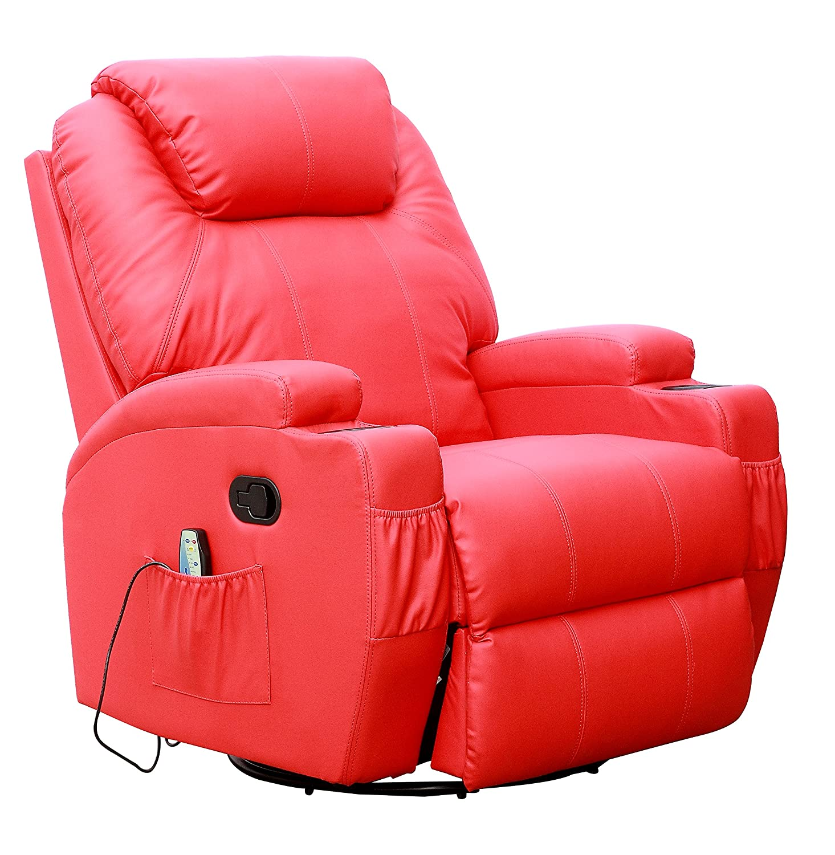 Kidzmotion Leather Recliner Gaming Chair massage heat