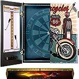 IgnatGames dartbord kabinet sets – Dartkabinet met innovatief LED-systeem, 2 magnetische scoreborden met stiften en werplijn