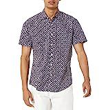 Amazon Essentials Men's Regular-fit Short-sleeve Print Shirt Short Sleeve Shirt