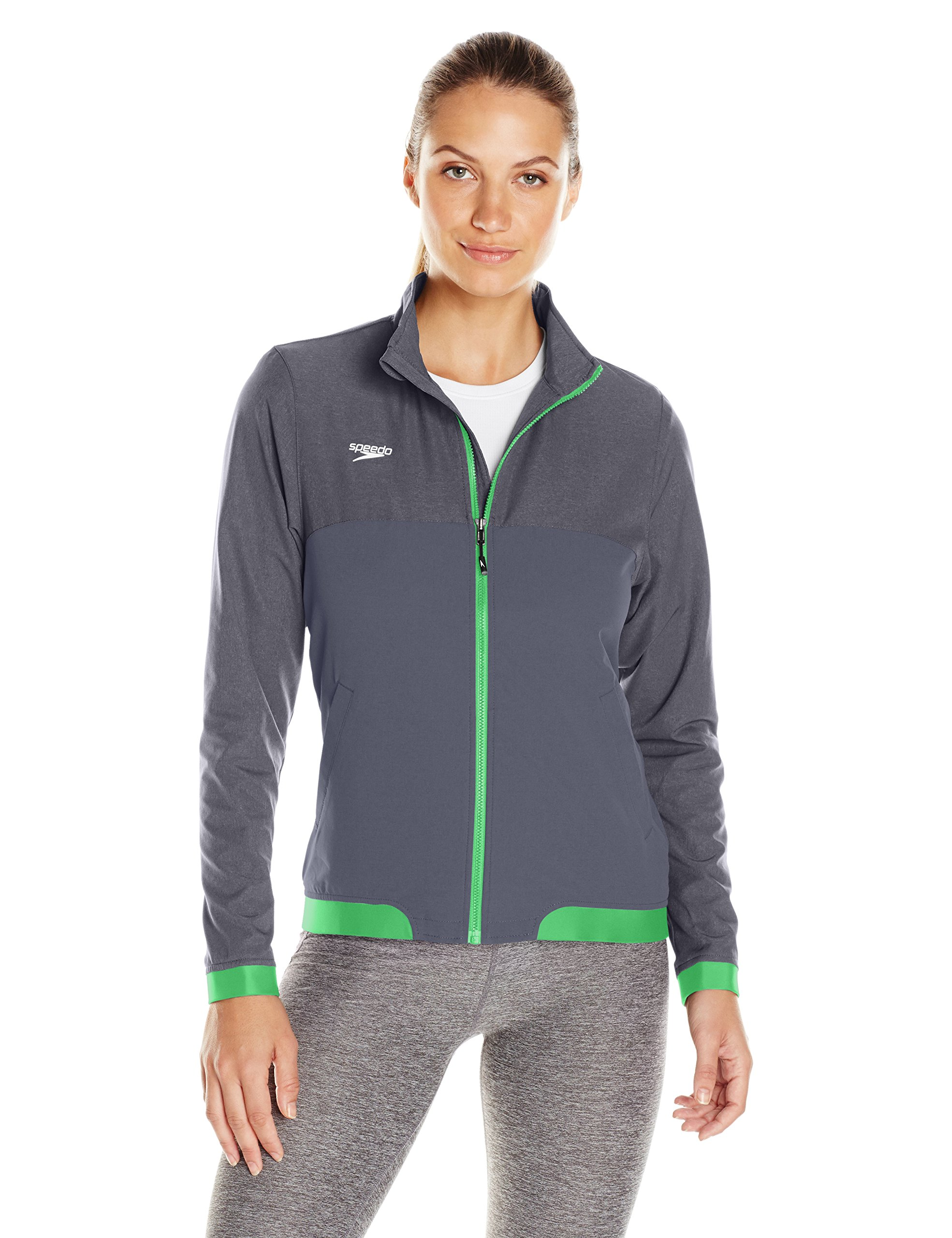 Speedo donna femmina Tech Warm Up Jacket, donna, Green, L