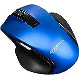 Amazon Basics – Ratón inalámbrico ergonómico compacto con rueda rápida, Azul