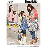 Simplicity Child's, Misses' & 18 Inch Doll Aprons-S - L/S - L