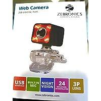 Zebronics Crystal Pro Web Camera (red)