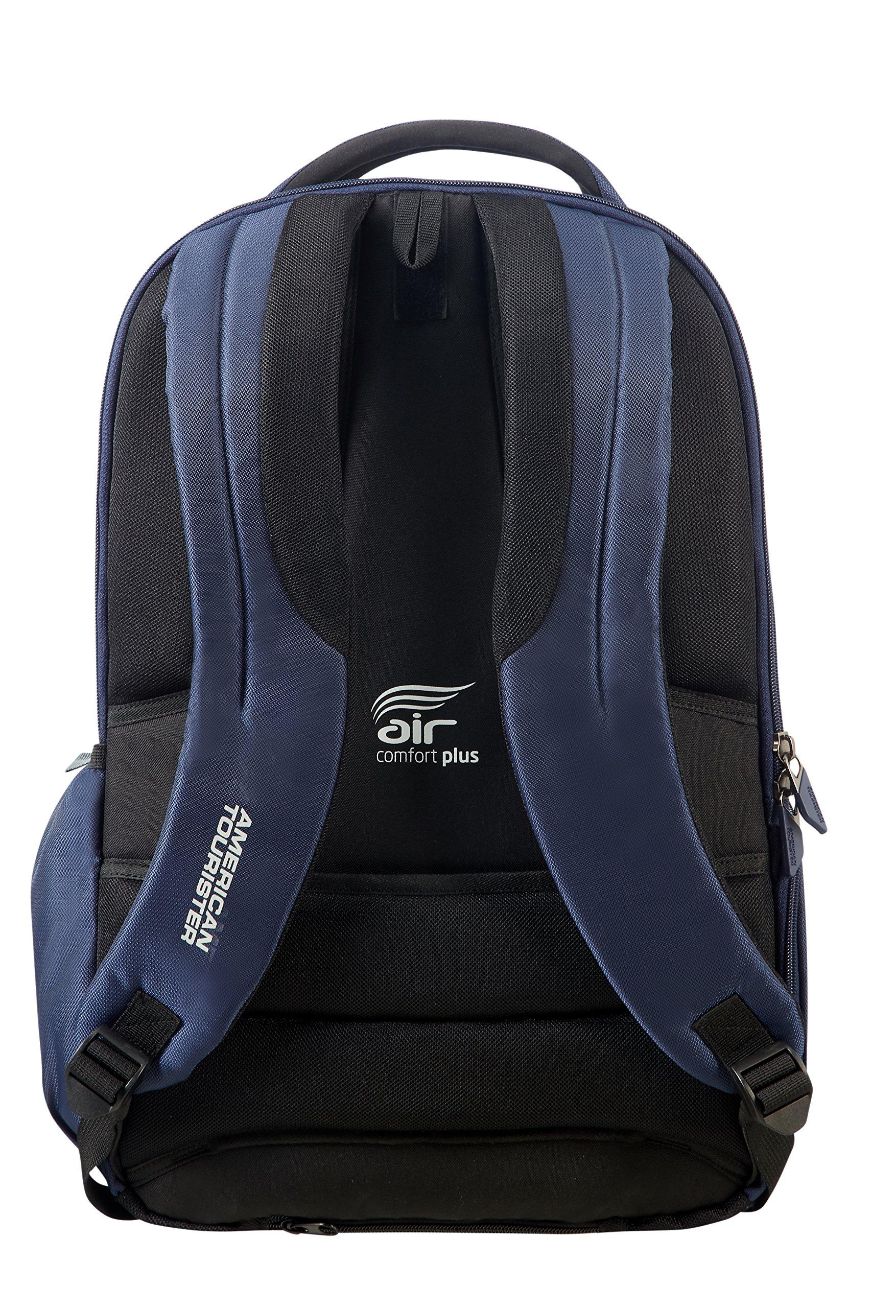 918ohKStBKL - American Tourister Urban Groove - 15.6 pulgadas Mochila para portátil, 50 cm, 27 L, Azul (Blue)
