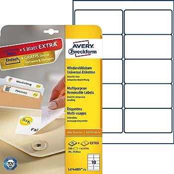 HERMA 4349 Repositionierbare Adressetiketten A4 96x50,8 mm weiß Movables Papier