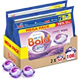 Bold All-in-One Pods Washing Liquid Laundry Detergent Tablets/Capsules, 108 Washes (54 x 2), Lavender and Camomile Scent