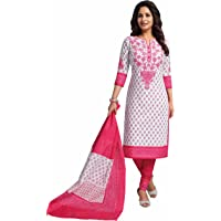 Miraan Cotton Printed Readymade Salwar Suit For Women(RV3516, Pink)