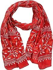 Guru Kripa Enterprises Women's Cotton Stole (GKE12, Red, Free Size)