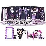 LOL Surprise Furniture, Con Bambola Dusk e 10+ sorprese, Set da gioco pieghevole per bambole in miniatura, Compatibile con ca