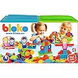 BLOKO – Coffret de 150 BLOKO avec 2 Plaques de jeu et 2 Figurines Famille – Dès 12 mois – Fabriqué en Europe – Jouet de const