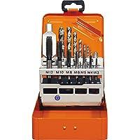 Projahn 91013 Einschnitt Gewindebohrer Satz 15-tlg., Gewindebohrer für Maschinen- und Handgebrauch, Kernlochbohrer und…