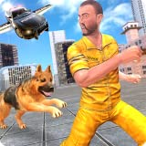Flying Police Car n Police Dog Duty Chase Crime City Criminal Attack Adventure: Cops Vs Robbers Gangster Fighting Survival Mi