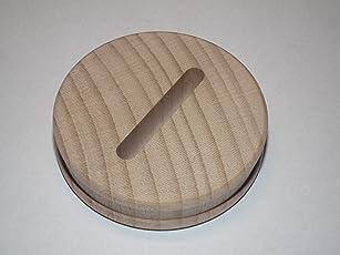 10 x Sparstrumpfscheibe aus Buche mit Schlitz Holzscheibe 5,8 cm Durchmesser