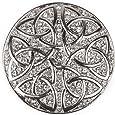 styleBREAKER Ornamento Magnetico Rotondo con Strass Ornamento con Nodo Celtico per Sciarpe, Scialli o Poncho, Spilla, da Donna 05050038