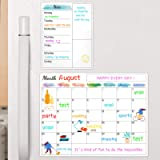 Dry Erase Fridge Magnetic Calendar - White Board Magnetic Calendar for Refrigerator Wall Home Kitchen Decor, 15'x 11.5…