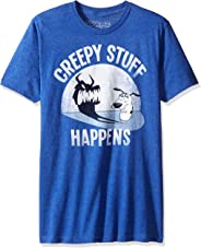 Courage the Cowardly Dog Men's Creepy Stuff Happens Graphic T-Shirt
