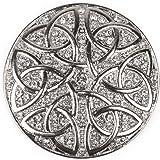 styleBREAKER Ornamento Magnetico Rotondo con Strass Ornamento con Nodo Celtico per Sciarpe, Scialli o Poncho, Spilla, da Donn