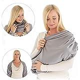 LALOONA - Écharpe-tube allaitement Bébé - Cape Allaitement Respirante et Discrète, 100% Coton - Couverture Allaitement Multi-