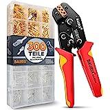 BAURIX® krimptang met 300 stuks platte kabelschoenen set I krimptang voor 0,50-2,50 mm² connectoren I kabelschoentang, steekh