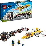 LEGO City Trasportatore di Jet Acrobatico, Playset Giocattolo con Camion Articolato e Aereo, 60289