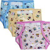 PIKIPOO : Presents Baby Kids PVC (Plastic) Diaper Joker Padded Baby Nappy Panty Training Pants with Inner & Outer Soft Plasti
