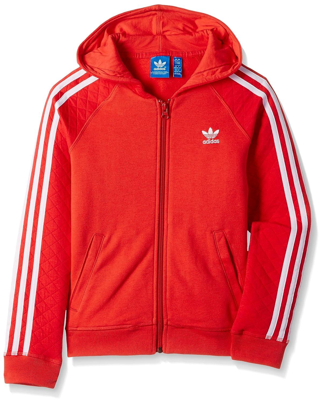 felpa adidas zip rossa