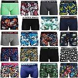 Pack de 4 calzoncillos tipo boxer Jack & Jones, tallas S, M, L, XL, XXL