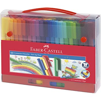 Faber-Castell Connector Fibre Tip Pen Case Box (Pack of 60)