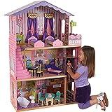 KidKraft 65082 My Dream Mansion Dockhus med 3 Nivåer för 30 cm Stora Dockor, Rosa