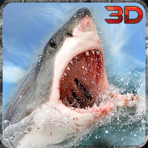 Seeungeheuer Shark Attack 3D-Simulation (Shark-grafik)