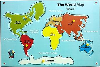 Skillofun Map of Continent, Multi Color