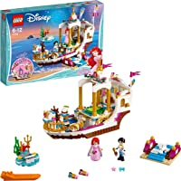 LEGO 41153 Disney Princess Ariel's Royal Celebration Boat Building Set, Fun Construction Toy for Children