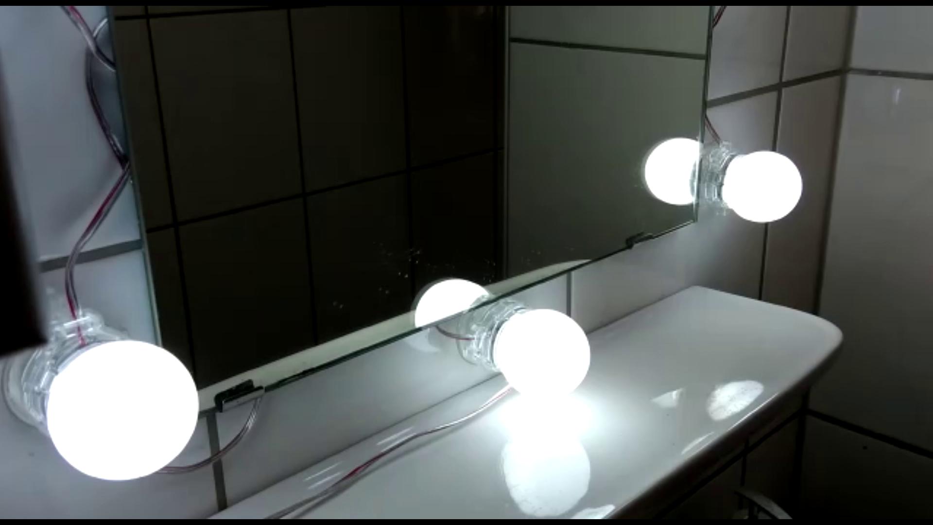 LED Spiegelleuchte Hollywood Stil Kosmetikspiegel(Schminklicht ...