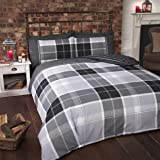 Finest Homewares Argyle Tartan King Quilt Duvet Cover and 2 Pillowcase