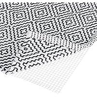 Relaxdays Antirutschmatte für Teppich, zuschneidbare Rutschmatte, Teppichunterlage, Rutschschutz, BxT: 80x200 cm, weiß…