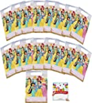 Princess Party Supplies Birthday Favor Treat Bags with Belle, Cinderella, Jasmine, Snow White, Ariel and Aurora for 16...