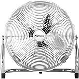 Pro Breeze 30 cm Uppladdningsbart Golvfläkt | Upp till 24 Timmars Batteritid, Sladdlös, Justerbart Fläkthuvud, USB-Port för L