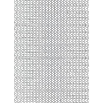 diametro fori: 8 mm RV 8-12 spessore: 2 mm B/&T Metall Lamiera forata in alluminio allineamento fori sfalsato