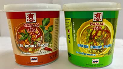 Namjai Green & Red Curry Paste, 400 gm