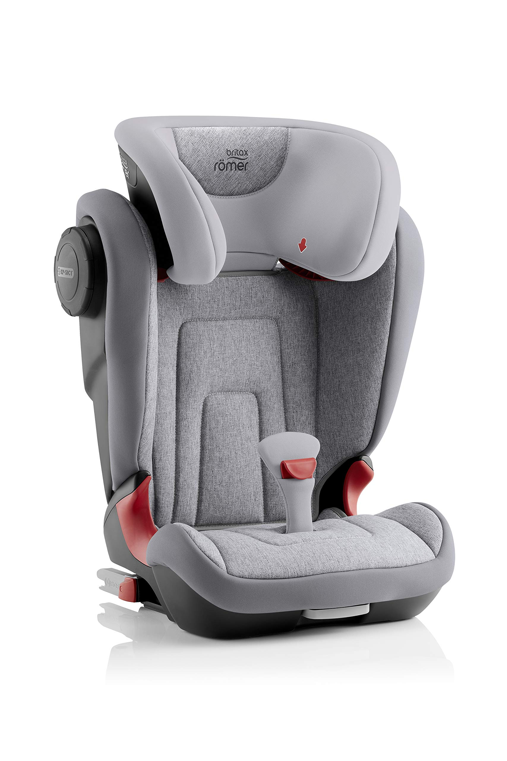 Britax Römer KIDFIX² S Group 2-3 (15-36kg) Car Seat - Grey Marble  Advanced side impact protection - sict offers superior protection to your child in the event of a side collision. reducing impact forces by minimising the distance between the car and the car seat. Secure guard - helps to protect your child's delicate abdominal area by adding an extra - a 4th - contact point to the 3-point seat belt. High back booster - protects your child in 3 ways: provides head to hip protection; belt guides provide correct positioning of the seat belt and the padded headrest provides safety and comfort. 3