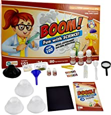 Ekta Boom Fun with Science   Science lab Kit   101 Experiments Inside   24 lab Tool   80 Page Career and lab Guide   8 + Year Children