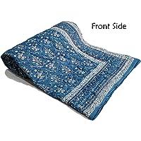 BLOCKS OF INDIA Cotton 300TC Dohar (Single_Blue)