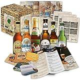 Spécialités de bière d'Allemagne (les meilleures bières allemandes) en tant qu'échantillon à offrir en cadeau (bière + instructions de dégustation + brochure sur la bière + cadeaux de brasserie + boîte-cadeau) 6 x 0,33l