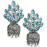 Zaveri Pearls Dark Antique Designer Oxidised Jhumki Earring For Women - ZPFK5969