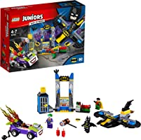 LEGO 10753 Juniors The Joker Toy Batcave Attack Playset, Batman Joker and Robin Mini Figures, Superhero Toy for Kids 4-7